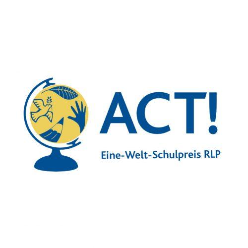 Logodesign: ACT! – Eine-Welt-Schulpreis RLP für ELAN