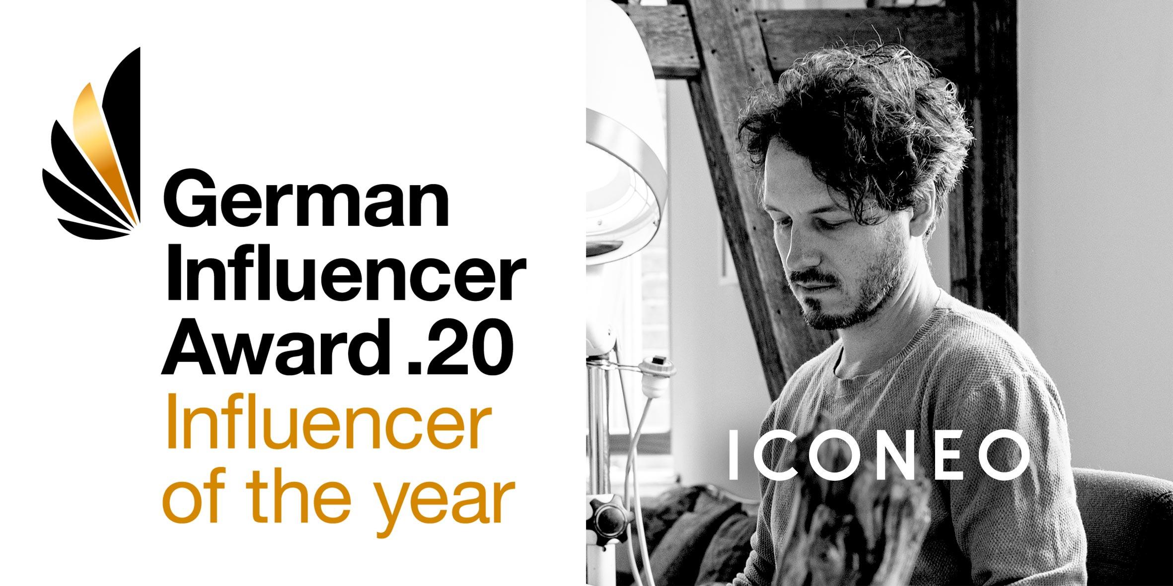 ICONEO mit German Influencer Award ausgezeichnet