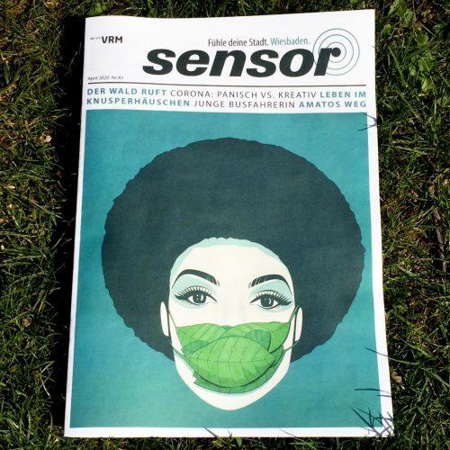 Cover-Illustration für das Sensor-Magazin
