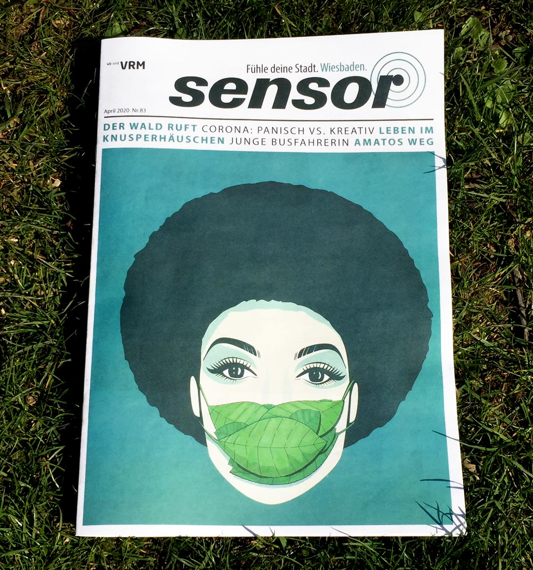 Cover-Illustration für Sensor-Magazin