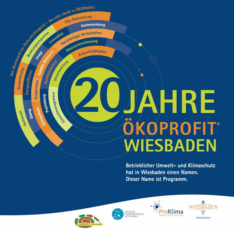 Design für: 20 Jahre ÖKOPROFIT Wiesbaden
